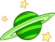 Planet Vector Illustration. Green Big Planet Vector Illustration Royalty Free Stock Photography
