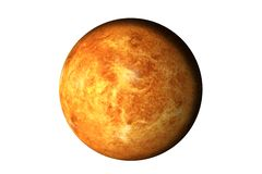 Planet Venus with atmosphere. Of solar system isolated. Elements of this image furnished by NASA stock image