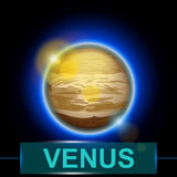 Planet venus Stock Image