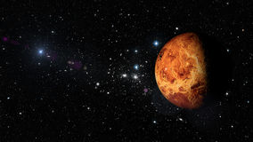Planet Venus in outer space. Elements of this image furnished by NASA Royalty Free Stock Photography