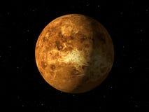 Planet Venus som göras med texturer stock illustrationer