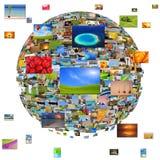 Planet von Bildern Stockfotos