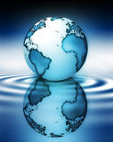 Planet in water Royalty Free Stock Photo
