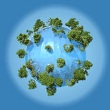 Planet of water Stock Image
