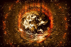Planet World bombs Royalty Free Stock Photography