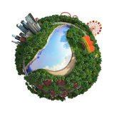 Planet World 3D. Version 04 - 3 Royalty Free Stock Photo