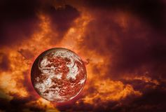 Planet Wrapped in flames. A Planet Wrapped in flames Stock Photography