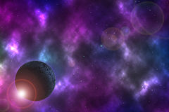 Planeta árido en espacio ilustración del vector