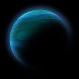 Planeta abstrato com o alargamento do sol no espaço profundo Fotografia de Stock