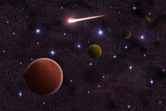 Planeta abstrato no fundo da galáxia ilustração royalty free