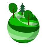 Planeta abstrato verde Imagens de Stock