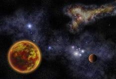 Planeta alaranjado ilustração do vetor