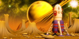 Planeta alaranjado Fotografia de Stock Royalty Free