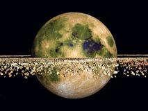 Planeta amarillo Fotos de archivo