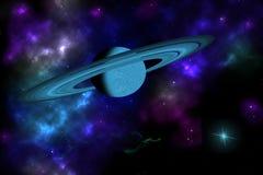 Planeta anillado Foto de archivo libre de regalías