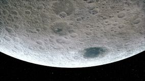 Planeta animado Marte Animación de alta calidad del CG en fondo de las estrellas ilustración del vector