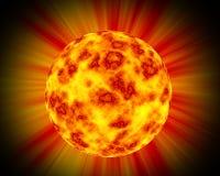 Planeta ardente ilustração royalty free