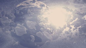 Planeta - asteroidy pole zbiory wideo