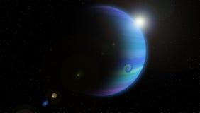 Planeta azul Fotografia de Stock