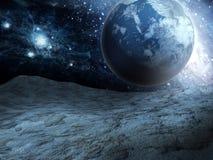 Planeta azul de la fantasía Foto de archivo