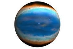 Planeta azul fant?stico, isolado no fundo branco Os elementos desta imagem foram fornecidos pelo ESA-Hubble ilustração royalty free
