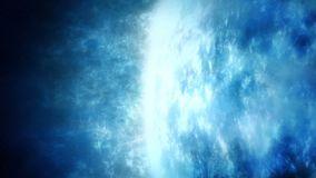 Planeta azul gasoso enorme ilustração do vetor