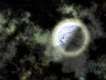 Planeta azul nas nuvens Fotos de Stock Royalty Free