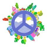 Planeta brillante pacífico Imágenes de archivo libres de regalías