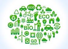 Planeta cómodo del verde/del eco Foto de archivo