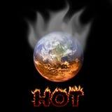 Planeta caliente a vivir encendido Foto de archivo