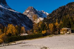 Planeta, Chamonix, Saboya haute, Francia Imágenes de archivo libres de regalías