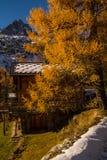 Planeta, Chamonix, Saboya haute, Francia Foto de archivo
