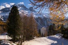 Planeta, Chamonix, Saboya haute, Francia Fotografía de archivo libre de regalías