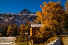 Planeta, Chamonix, Saboya haute, Francia Fotografía de archivo