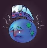 Planeta cierpi od istota ludzka transportu Zdjęcia Royalty Free
