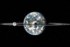 Planeta com anéis Ilustração Royalty Free