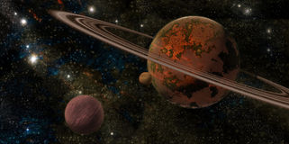 Planeta com anéis Imagens de Stock Royalty Free
