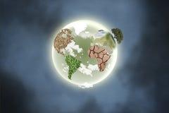 Planeta com continentes Imagem de Stock