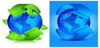 Planeta com seta Fotos de Stock
