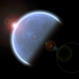 Planeta con el levantamiento Sun Fotografía de archivo libre de regalías
