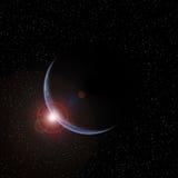 Planeta con el levantamiento Sun Imagen de archivo libre de regalías