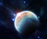 Planeta con la ilustración de la salida del sol libre illustration