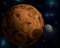 Planeta con la luna de los it´s Imágenes de archivo libres de regalías