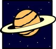 Planeta con los anillos ilustración del vector