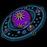 Planeta con los anillos Imagen de archivo