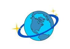 Planeta, ?cone do globo no logotipo do espa?o