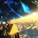 Planeta cuadrado Imagenes de archivo