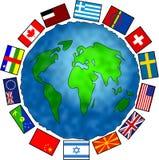 Planeta da bandeira ilustração stock