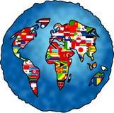 Planeta da bandeira Imagens de Stock