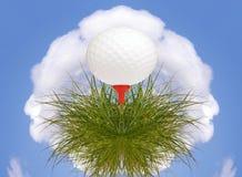 Planeta da bola de golfe ilustração stock